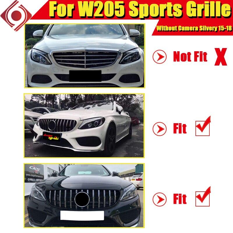 CKS W204 C Class C180 C200 C250 C350 C63 Sport grille grill AMG Style Black
