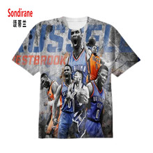 Sondirane Design WESTBROOK 3D Sublimation Print Custom Made T-shirt Summer Short Sleeve Fashion T Shirts Crewneck Hip Hop Tops