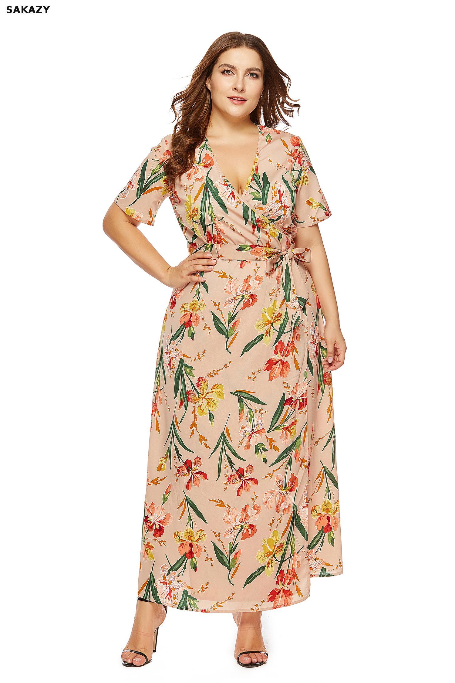 e21ba4c65a22b Worldwide delivery women summer floral print maxi dress boho in ...