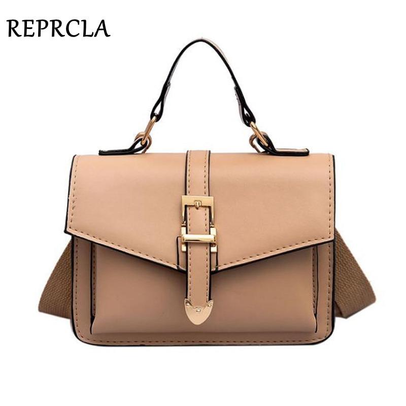 REPRCLA 2019 New Handbag Shoulder Bag Fashion Flap Small Crossbody Bags For Women Messenger Bags PU Leather Ladies Hand Bags
