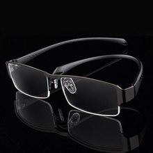 Men Titanium Alloy Eyeglasses Frame for Eyewear Flexible Temples Legs IP Electroplating Materia,Half Rim