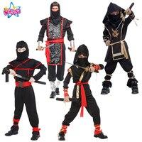 Classic Halloween Ninja Costumes Cosplay Costume Martial Arts Ninja Costumes For Kids Fancy Party Decorations Supplies