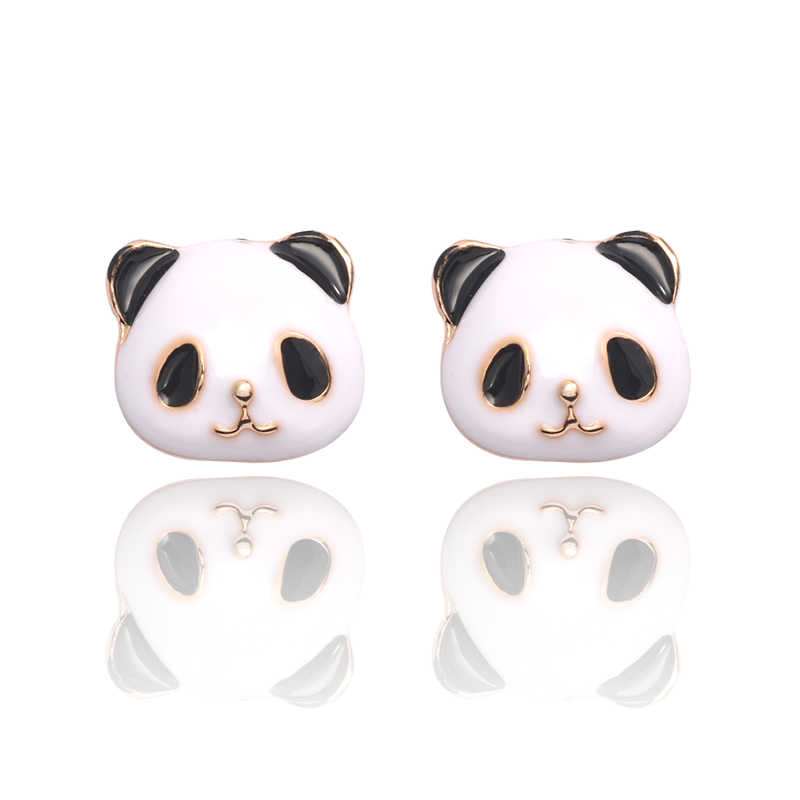Giant Panda Animal Earrings Cute Black And White Color Girls Stud Earrings Resin Tassel Earrings For Women Jewelry Pendientes
