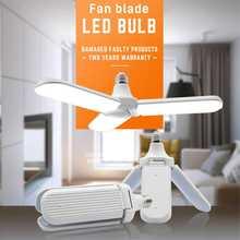 45 Вт E27 скандинавский светодиодный светильник-вентилятор, супер яркий Складной вентилятор, Регулируемый угол наклона, потолочный светильник, домашний энергосберегающий светильник s