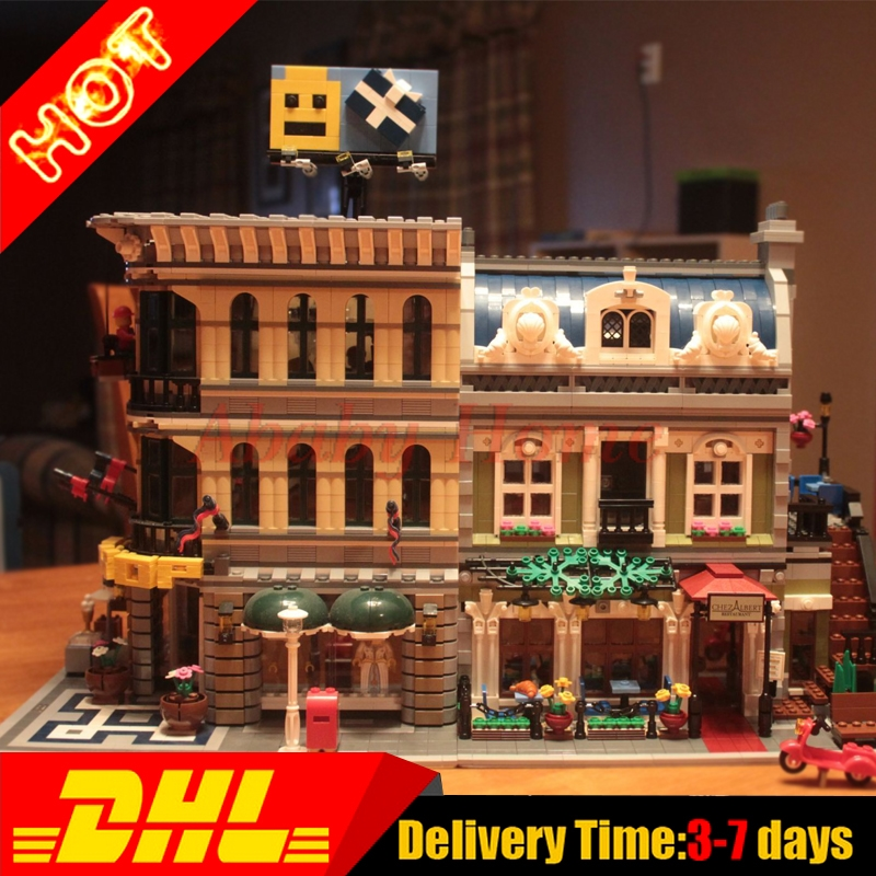 LEPIN 15005 Grand Emporium + 15010  Parisian Restaurant City Street Model Building Blocks Brick Toy Clone 10243 10211 dhl new 2418pcs lepin 15010 city street parisian restaurant model building blocks bricks intelligence toys compatible with 10243