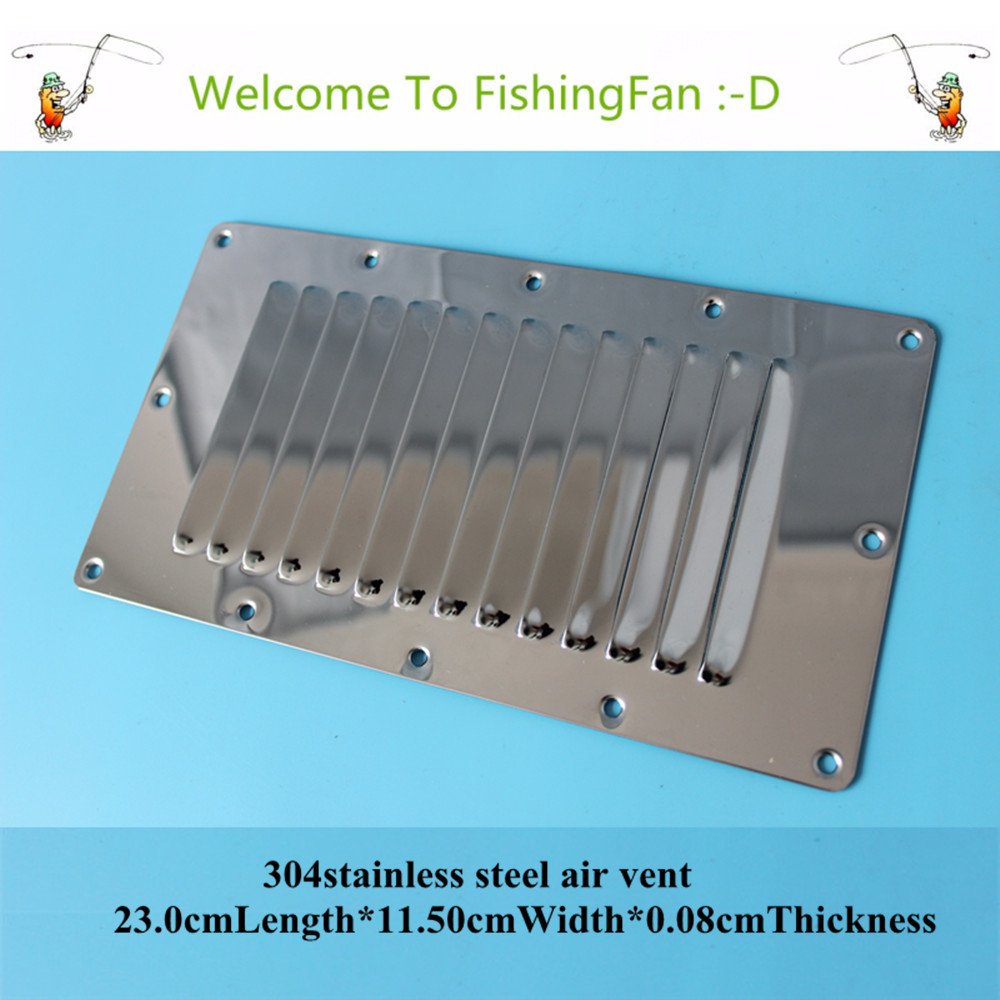 23.0cm*11.50cm Louvred Stainless Steel Square Air Vent Grille Metal Wall Ventilation ...