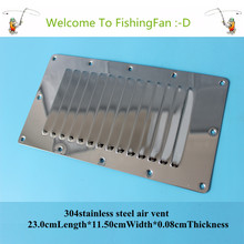 23.0cm*11.50cm Louvred Stainless Steel Square Air Vent Grille Metal Wall Ventilation