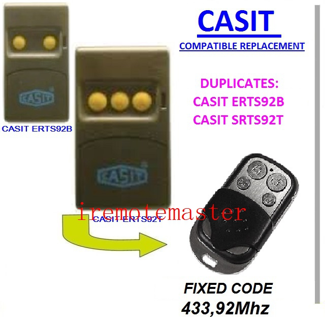 After market CASIT ERTS92B,SRTS92T compatible remote control free shipping after market merlin plus compatible remote suit c945 940 933 dhl free shipping