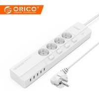 ORICO Smart Socket 4 AC 5 USB Port Surge Protector Universal Adapter Travel Multi Plug Electronics Extension Board Power Strip