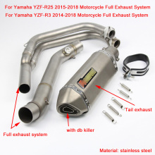 Silp on for Yamaha YZF-R3 2014-2018 Motorcycle Full Exhaust System With Tail Exhaust Muffler Pipe For Yamaha YZF-R25 2015-2018