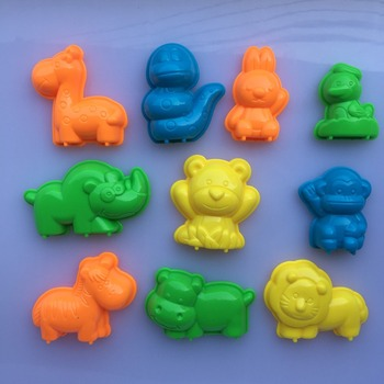 10 PCS Set Animals Sand Clay Tool Beach Toys Novelty Pyramid Mold Building Model For Kids Child Baby Out Fun Toys on Holiday 3