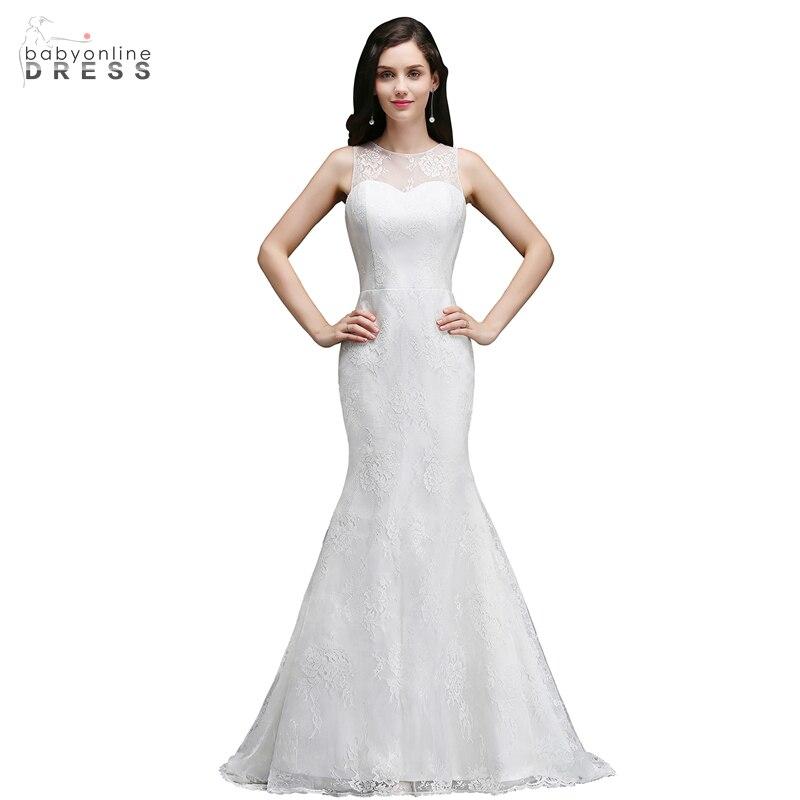 Beautiful Mermaid Wedding Gowns: Babyonline Dress Mermaid Lace Tank Wedding Dresses