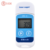 RC 5 Digital USB Temperature Data Logger High Accuracy For Temp C F Recording Thermometer Datalogger
