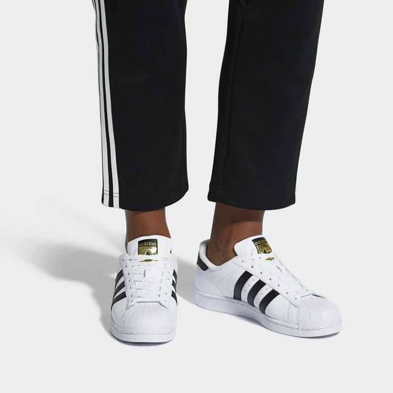 Adidas Officielles SUPERSTAR Trèfle de Femmes Et Hommes de chaussures pour skateboard Sport baskets d'extérieur Low Top Designer bonne qualité - 6