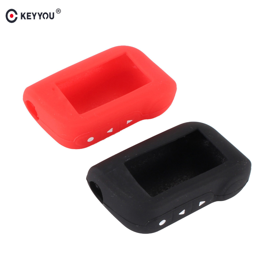 KEYYOU A93 Keychain Silicone Cover Key Case Prefect For Starline A93 Two Way Car Alarm Remote Controller A63 LCD Transmitter a93 a96 keychain silicone cover key case for starline a93 two way car alarm remote controller a63 lcd transmitter