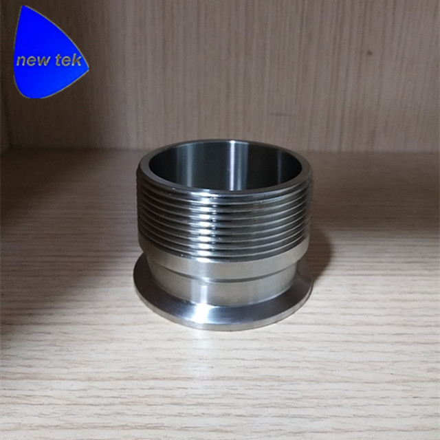 "Фотография 2""(dn50) bsp male to tri clamp sanitary adapter 304 stainless steel"
