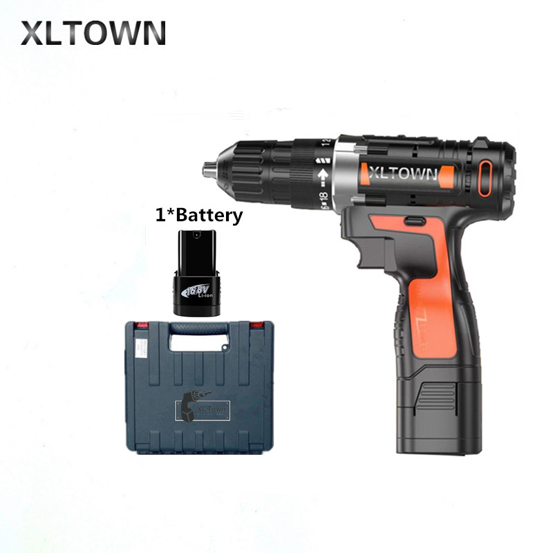 все цены на Xltown 16.8v Cordless Mini Electric Drill with a plastic box Multi-energy lithium battery electric screwdriver power tools онлайн