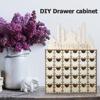 DIY Drawer Ramadan Mubarak Islamic Decor Ornaments Festival Party Supplies home decoration accessories