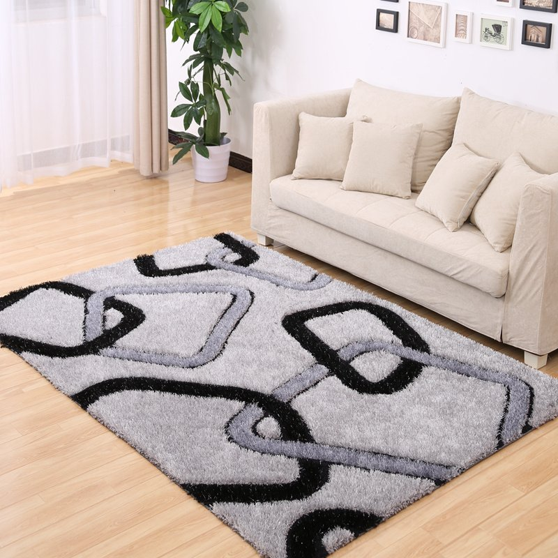 Brief Plaid Stretch Yarn Rugs And Carpets For Home Living Room Modern Bedroom Area Rugs Coffee Table Thicken Floor Mat 120X170CMBrief Plaid Stretch Yarn Rugs And Carpets For Home Living Room Modern Bedroom Area Rugs Coffee Table Thicken Floor Mat 120X170CM