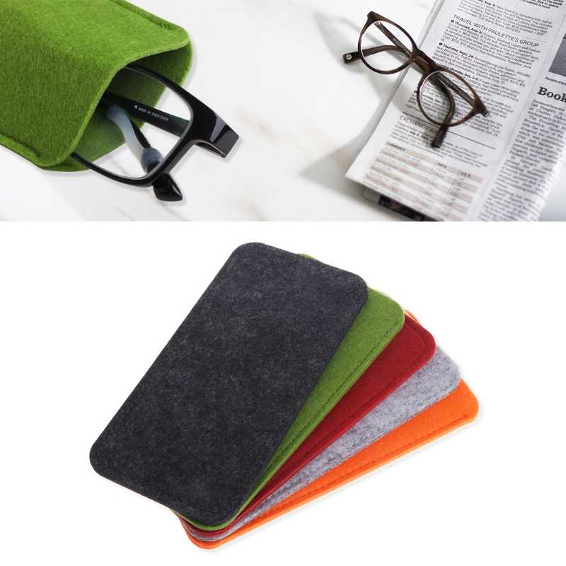 Felt Sunglasses Bags Cases Portable Soft Glasses Package Glasses Accessories