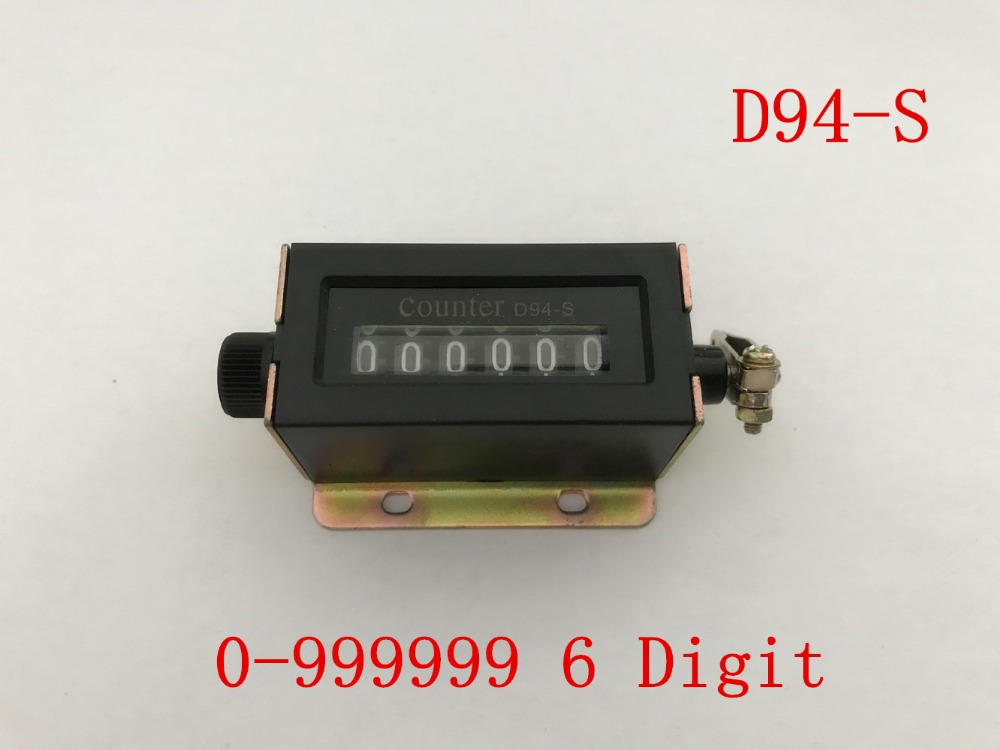 D94-S 6 Digit Resettable Mechanical Pulling Counter Rolling Wheel Counter US