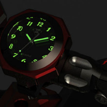 luminous waterproof motorcycle Instruments clock scooter motorbike Support handlebar diameter 22-25mm
