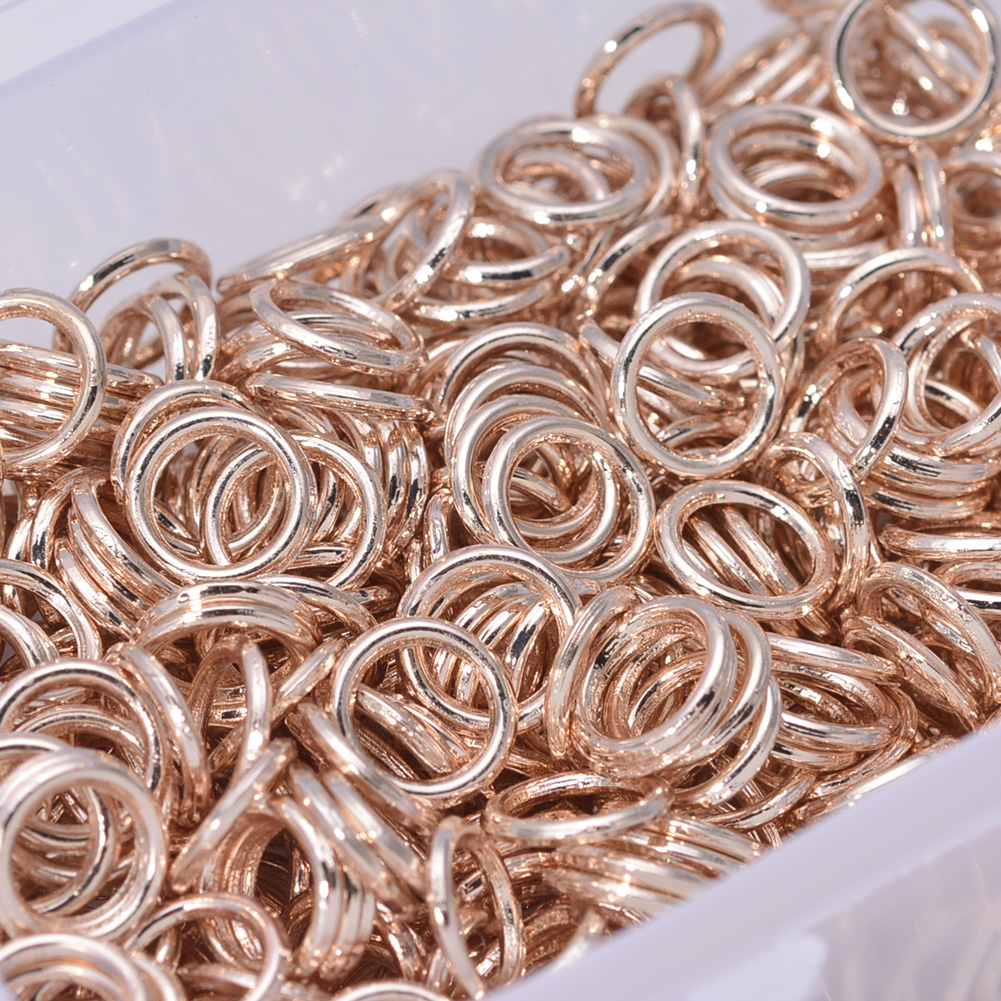 New Arrival Rose Gold Color 8mm Jump Rings Jewelry Findings Rings