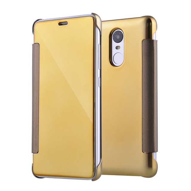 reputable site 932ef 6dd14 US $3.78 10% OFF|For Xiaomi 5 5S Note 2 Smart Slim View Leather Flip Mirror  Case For Xiaomi Redmi 4 pro Prime Redmi Note 3 Pro Hard Mirror Cover-in ...