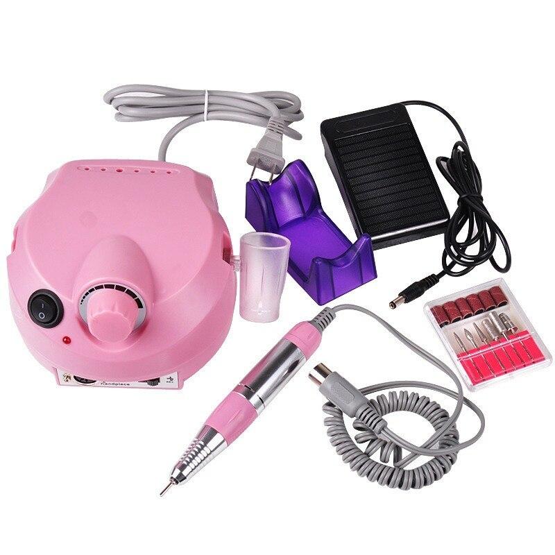 Electric Nail Drill Machine equipment 25000RPM Nail File Manicure Pedicure Dental Grinding Machine Nail Tool Polishing Kit