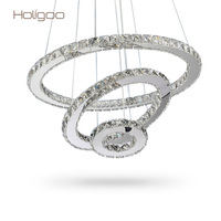 Holigoo LED Crystal Chandelier Lights Cristal Lustre Chandeliers Lighting Pendant Hanging Ceiling Fixtures For Home Living