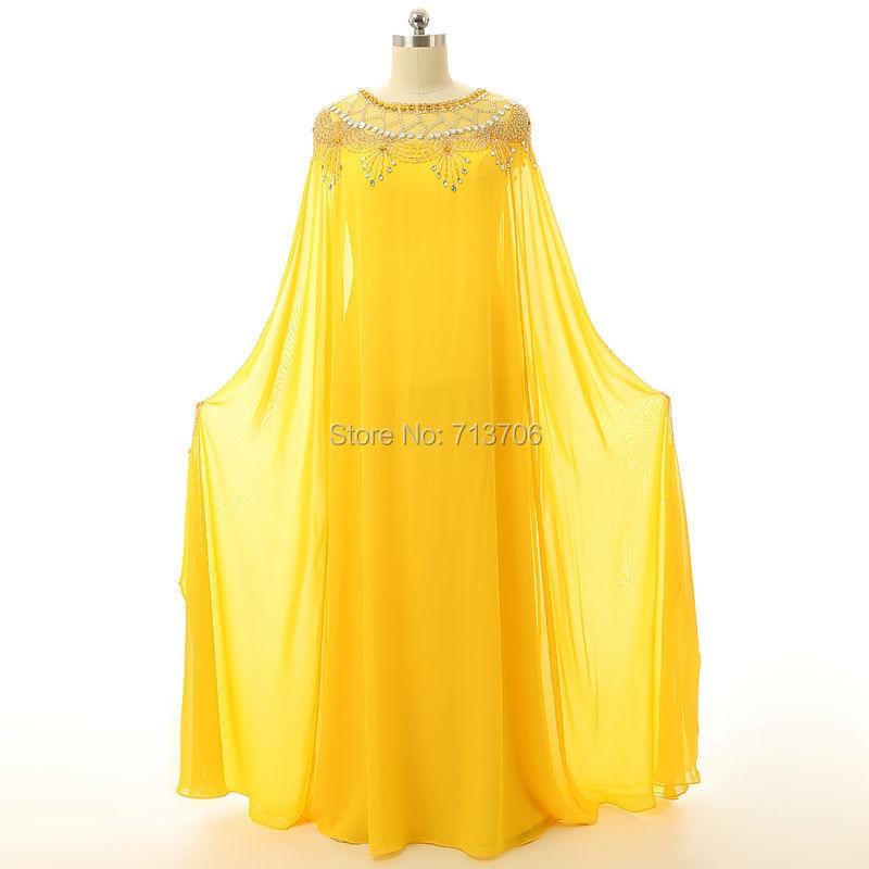 Real Photo Mother bride dress Long sleeve Beaded Chiffon Abaya Dubai Kaftan 2017 New Arabic Women Muslim Evening Dresses - Star wedding shop store