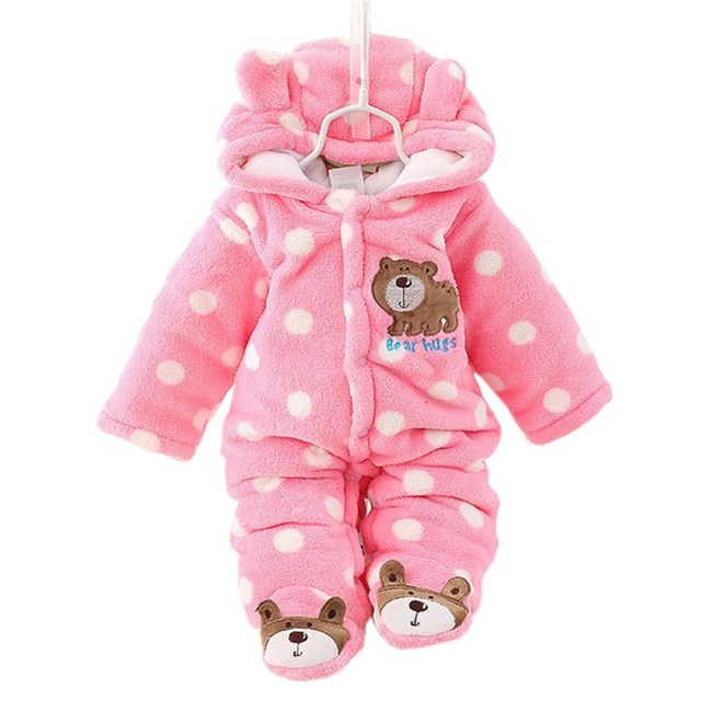 Winter Warm Baby Rompers Newborn Overalls Layette Coat Girl Jumpsuit Clothing Boy Rompers Thicken Parkas Costume Baby Clothes