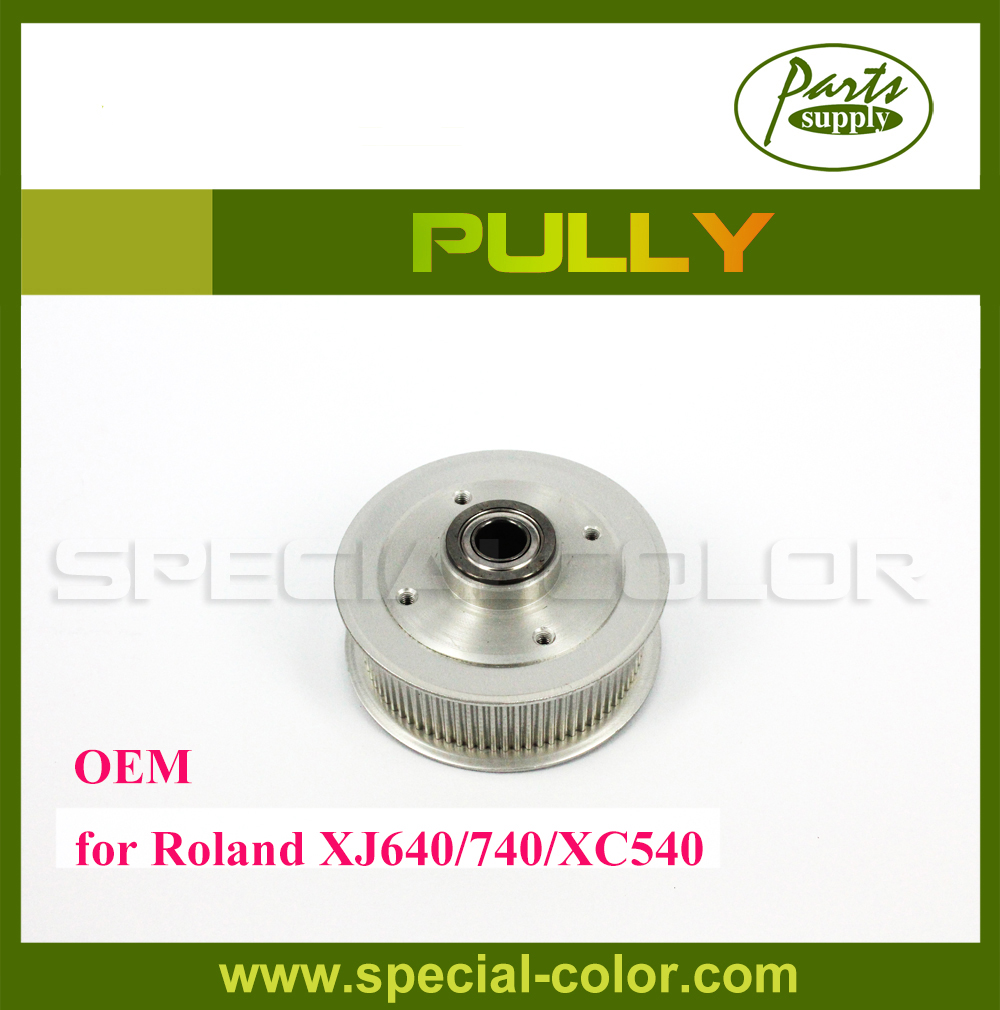 New Arrival! OEM DX4 Solvent Printhead Printer Roland XC540 Pulley for XJ740/640 Pully oem roland rs 640 vp 540 belt pulley gear