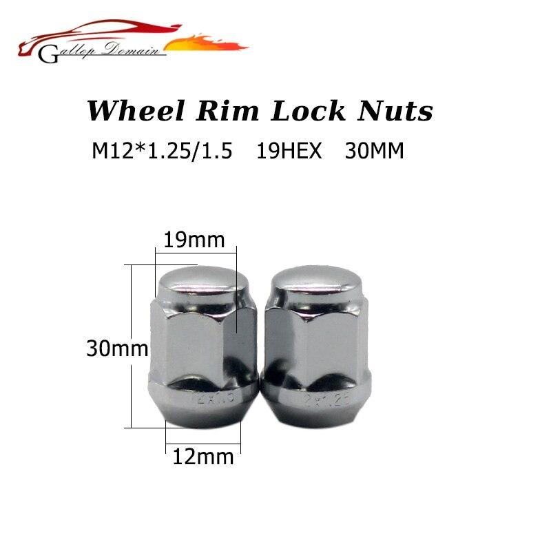 20PCS M12 1 25 30MM 19HEX Car wheel nuts theft wheel nuts steel tire screws Suit