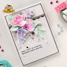 New Dies For 2019 Flower Die  Cut Clear Stamp and Dies for Scrapbooking Card Album Making Metal Cutting Dies and Stamps Set gjcrafts love notes framelits clear stamp and dies for card making scrapbooking stencil metal die cut dies and stamps sets