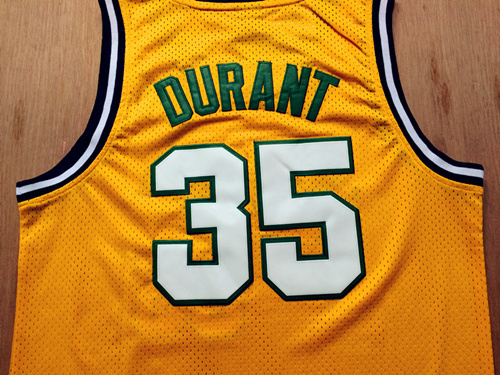 69de2d55780 Seattle Supersonics #35 Kevin Durant White Throwback Retro Vintage  Basketball Jersey,Embroidered Logos,Size:S XXL,Free Shipping-in Basketball  Jerseys from ...