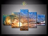 5 Pieces/set Adorable Ocean Waves Wall Art Paintings Picture Paiting Canvas Paints Home Decor Printed Painting Wall Art Picture