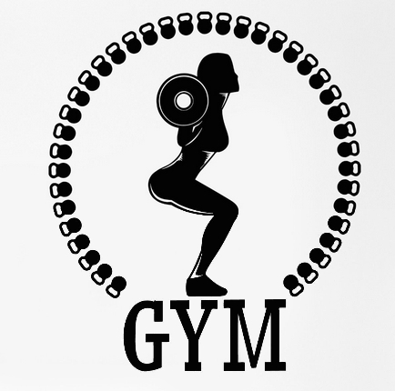 Fitness Wall Sticker Sport Squat Woman Girl Gym