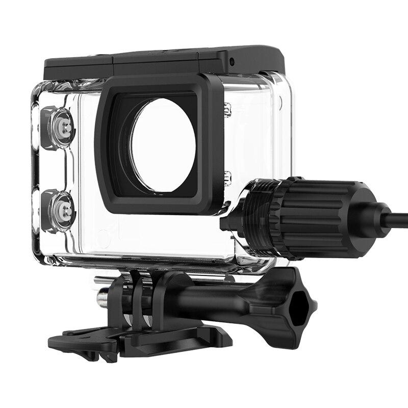 10PCS SJCAM Motorcycle Waterproof Case SJ6 Charging Case camere Accessory for Original SJCAM SJ6 Legned action helmet camera