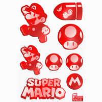 8pcs/set 3D Metal Sticker Game Mario Stickers for Phone Laptop Stickers Fridge Decal Stiker Kids  Toys Gift