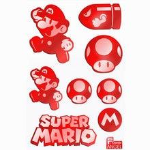 8pcs/set 3D Metal Sticker Game Mario Stickers for Phone Laptop Fridge Decal Stiker Kids  Toys Gift