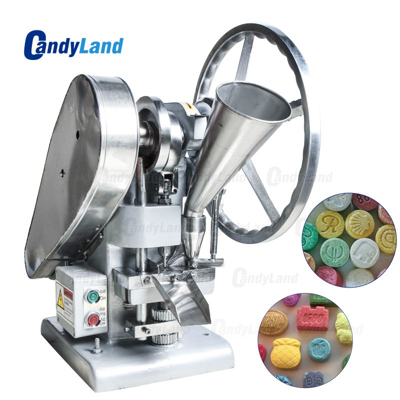 CandyLand TDP1.5 Single Tablet Punch Die Press Machine Sugar Press Machine Candy Stamping Making Pressing Mold Making Machine