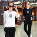 Autumn and winter new students two pieces of pajamas clothes suit sweatjogging leisure set girls Casual clothing