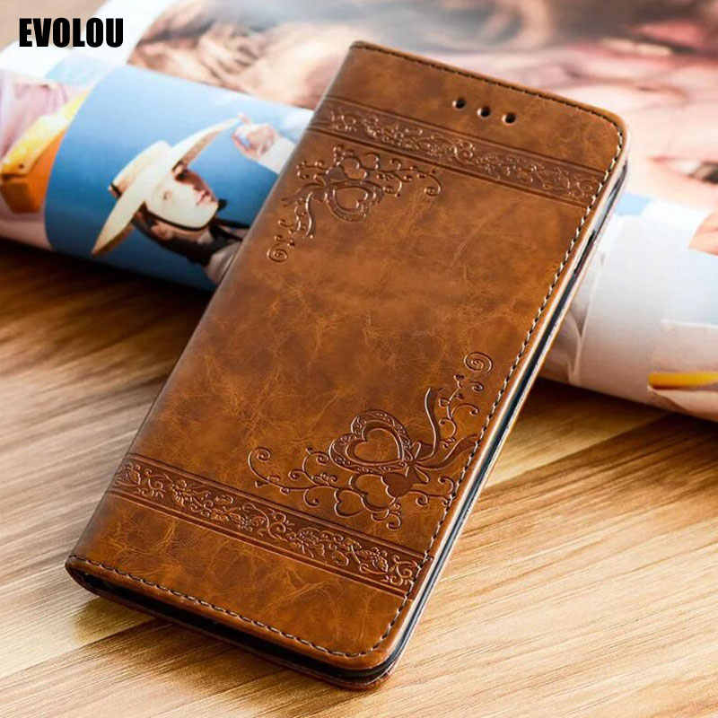 Embossed Flip Leather Case for Huawei P20 Lite Honor 8 Lite P10 P9 P8 P30 Pro Y9 2019 mate 9 Cover Flowers Magnetic Wallet Cover