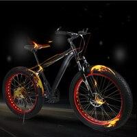 Aoxin 26-inch الكبار الرجال والنساء الدراجات الدراجة الجبلية 21-speed outdoor الرياضة خارج الشاطئ سنو الدراجة الطريق الإطارات 4.0