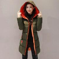 KUYOMENS 2017 Mới Jacket Nữ Winter Coat Womens Medium-Long Bông Đệm Ấm Áp Áo Khoác Chất Lượng Cao Bán Hot phụ nữ Coat