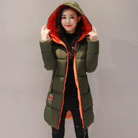 KUYOMENS 2017 New Jacket Women Winter Coat Womens Medium Long Cotton Padded Warm Jacket Coat High