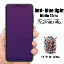 Anti Blue Light Tempered Glass Screen Protector For Xiaomi Redmi Note 5 6 Pro 4 4X 5A Y1 Lite Matte Frosted