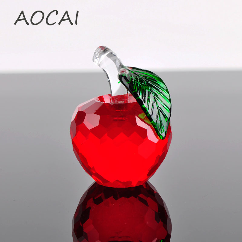 Best Home Decor Gifts 2012: 40mm Red Apple Crystal Ball Feng Shui For Home Decor World