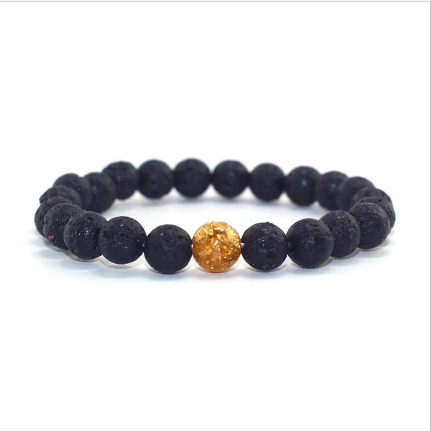 8MM 10MM Natural Black Onyx Stone Beads Bracelets Women Men Jewelry Wristband Strand Lucky Bracelets Bangles For Lover's Gifts